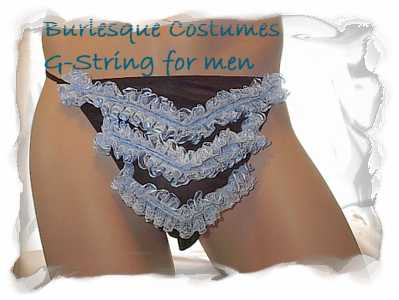 g-string for men made with ruffles or fringe $35