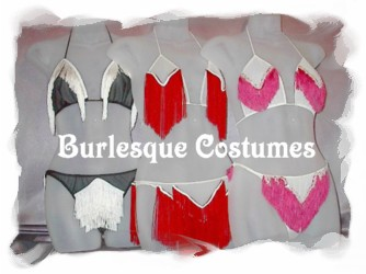 burlesque costumes fringe bra and panties sets average $65-85