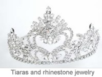 Rhinestone Tiaras and Jewelry