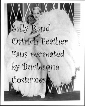 Sally Rand Fans by Burlesque Costumes