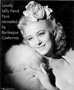 Sally Rand with Rose in hair Fans