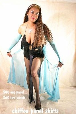 Strip Panel Skirts by Burlesque Costumes
